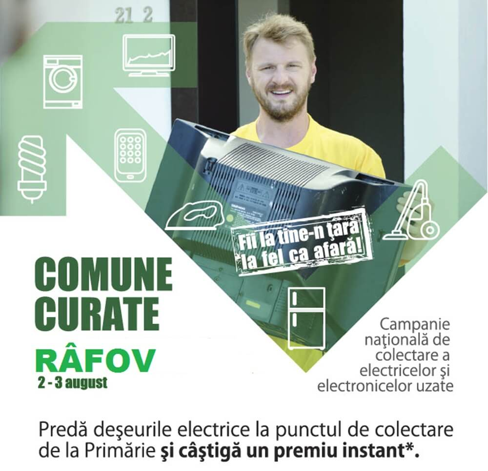 """Campania """"Comune curate"""" ajunge la Râfov, pe 2 și 3 august"""