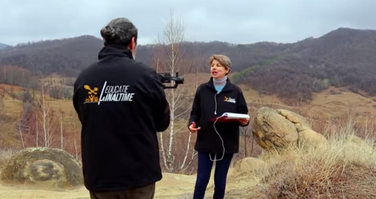 Lecție live, filmată cu drone, transmisă de la 1600 m altitudine, din Parcul Natural Bucegi. Vor participa 30.000 de elevi