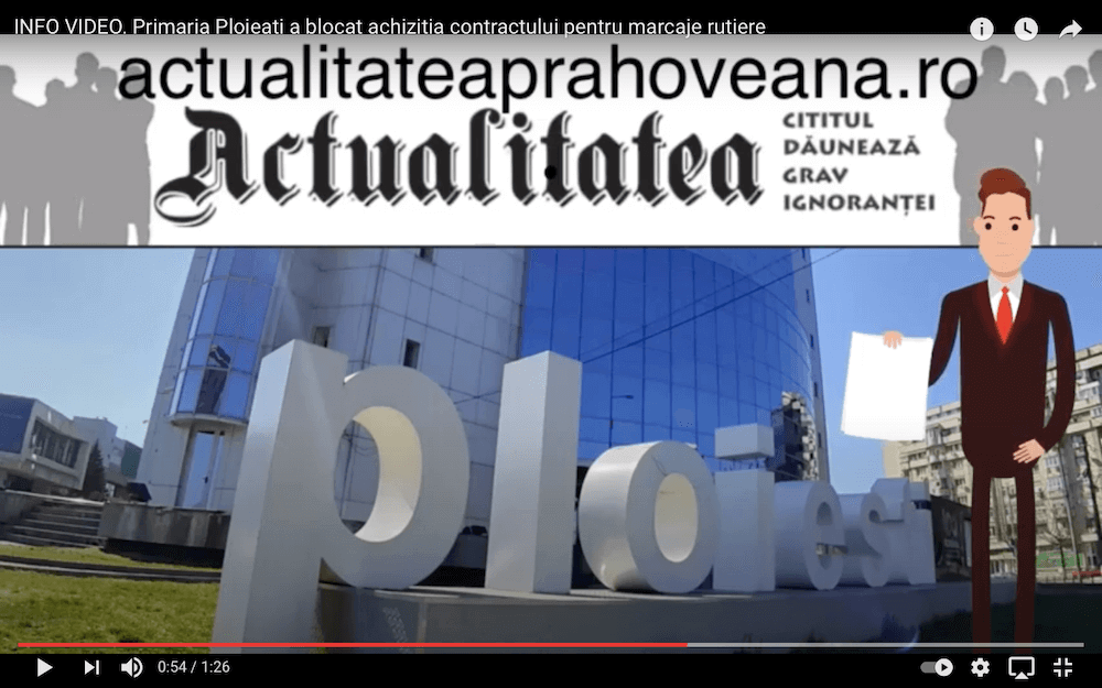 VIDEO NEWS. Primăria Ploiești a blocat achiziția contractului pentru marcaje rutiere