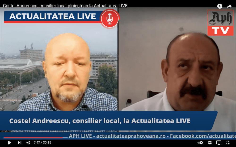 VIDEO Premieră. Consilierul municipal Costel Andreescu (USRPlus), invitatul jurnalistului Victor Preda la Actualitatea LIVE