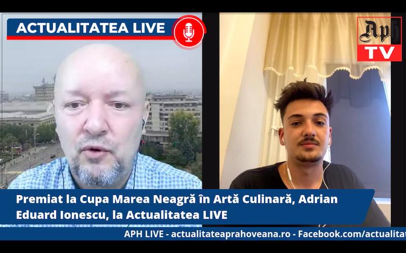 Premiat la Cupa Marea Neagră în Artă Culinară, Adrian Eduard Ionescu, la Actualitatea LIVE, emisiunea din 2 iunie 2021
