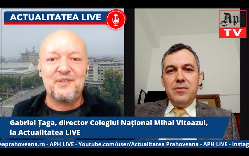 PREMIERĂ ora 17.00. Gabriel Țaga, directorul Colegiului Național Mihai Viteazul, la Actualitatea LIVE