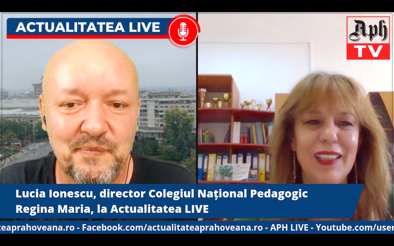 Lucia Ionescu, director Colegiul Național Pedagogic Regina Maria, la Actualitatea LIVE
