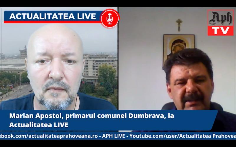 """""""Suntem singura comună care va fi traversată de două autostrăzi și nu avem o cale de acces"""". Marian Apostol, primarul comunei Dumbrava, la Actualitatea LIVE"""
