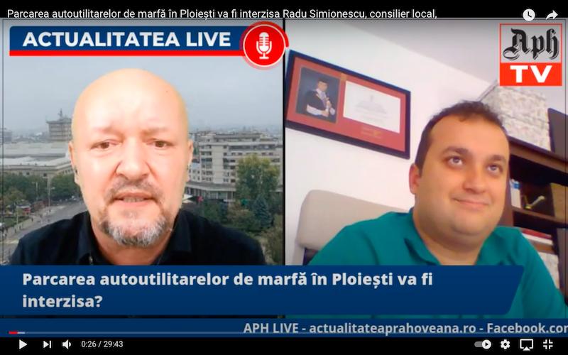Consilierul ploieștean Radu Simionescu, la Actualitatea LIVE