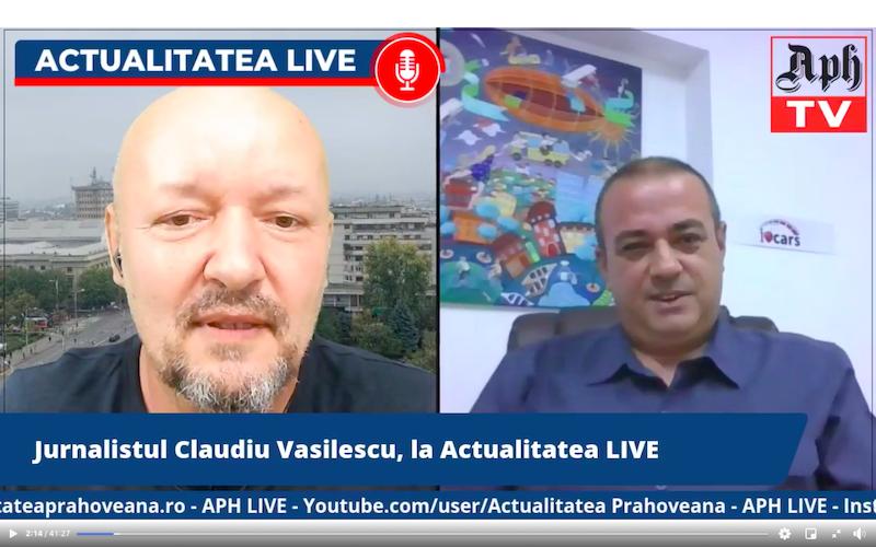 Jurnalistul Claudiu Vasilescu, la Actualitatea LIVE. Premiera LIVE pe canalul oficial Actualitatea Prahoveana, ediția din 28 mai 2021