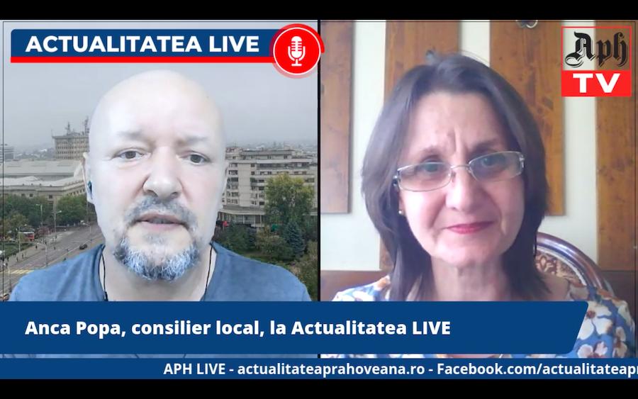 Anca Popa, consilier local ploieștean, la Actualitatea LIVE