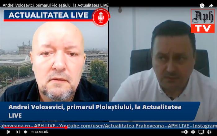Andrei Volosevici, primarul Ploieștiului, la Actualitatea LIVE, ediția din 18 mai 2021