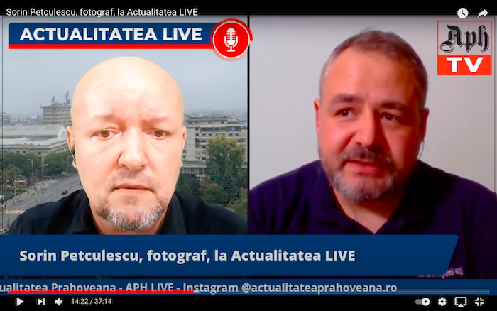 Sorin Petculescu, fotograf, la Actualitatea LIVE, ediția din 10 mai 2021